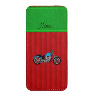 Rayas azules conocidas personalizadas del rojo de bolsillo para móvil