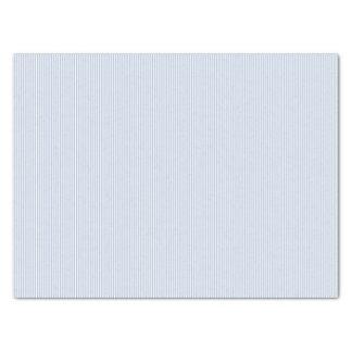 Rayas azules de acero ligeras papel de seda mediano