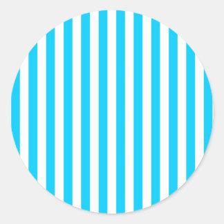 Rayas azules de la aguamarina pegatinas