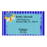 Rayas azules de la graduación fijadas plantillas de tarjetas personales