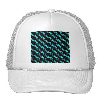 Rayas azules de la lentejuela de la aguamarina en  gorras