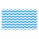 Rayas azules de moda, brillantes del zigzag del tarjetas de visita