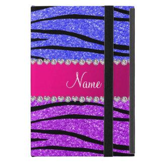 Rayas azules de neón púrpuras de neón conocidas de iPad mini cobertura