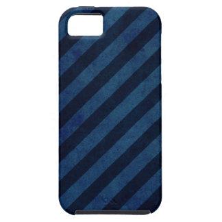 Rayas azules del Grunge iPhone 5 Case-Mate Cobertura