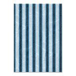 Rayas azules del Grunge Invitación 8,9 X 12,7 Cm