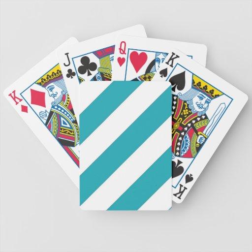 Rayas azules del trullo cartas de juego