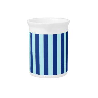 Rayas azules jarras para bebida