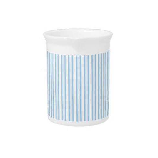 Rayas azules jarras de beber
