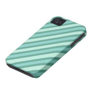 Rayas azules multi iPhone 4 Case-Mate coberturas