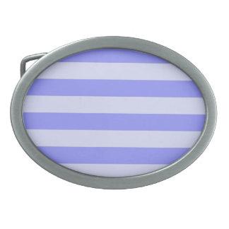 Rayas azules náuticas hebilla cinturón oval