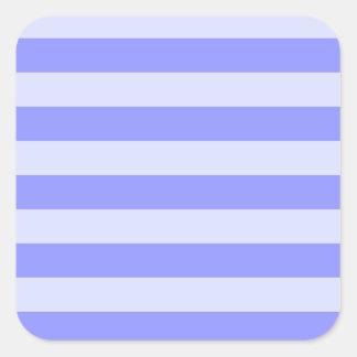 Rayas azules náuticas pegatina cuadrada