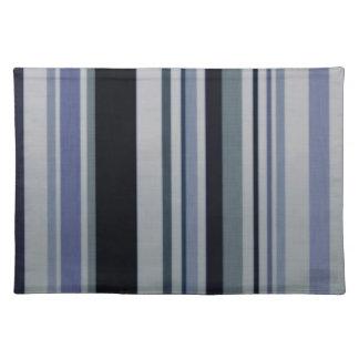 Rayas azules negras Placemats de los modelos del v Mantel
