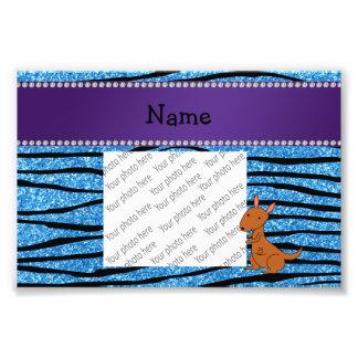 Rayas azules personalizadas de la cebra del fotografía