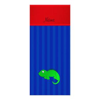 Rayas azules personalizadas de la iguana conocida lonas personalizadas
