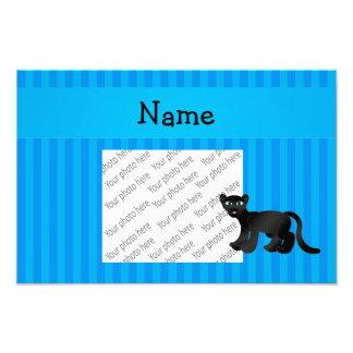 Rayas azules personalizadas de la pantera conocida fotografía