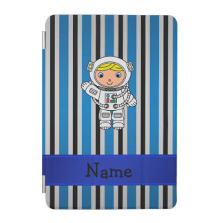 Rayas azules personalizadas del astronauta cubierta de iPad mini