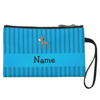 Rayas azules personalizadas del burro conocido