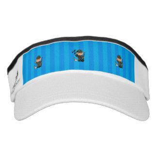 Rayas azules personalizadas del cazador conocido viseras de alto rendimiento