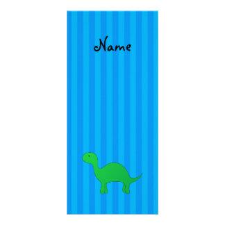 Rayas azules personalizadas del dinosaurio conocid tarjeta publicitaria personalizada