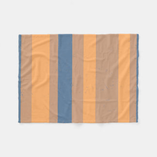 Rayas azules polvorientas anaranjadas de Flecked Manta De Forro Polar