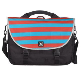 Rayas azules rojas bolsas de portatil