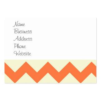 Rayas azules y anaranjadas en colores pastel de Ch Tarjetas De Visita