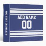 Rayas azules y blancas con nombre y número