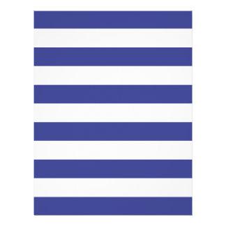 """Rayas azules y blancas folleto 8.5"""" x 11"""""""