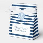 Rayas azules y blancas náuticas que casan la caja  paquetes de regalo para fiestas