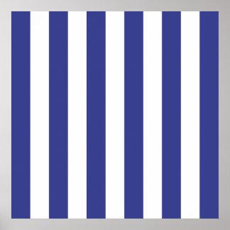 Rayas azules y blancas poster