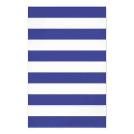 Rayas azules y blancas papelería personalizada