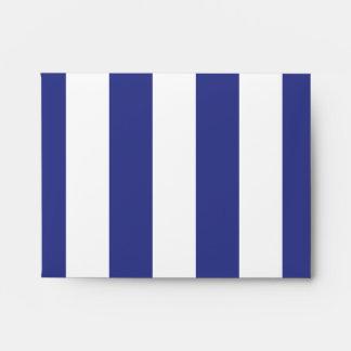 Rayas azules y blancas sobres