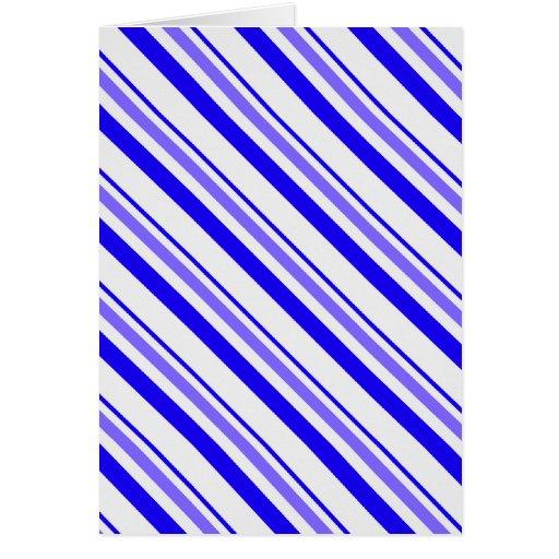 Rayas azules y blancas tarjetas