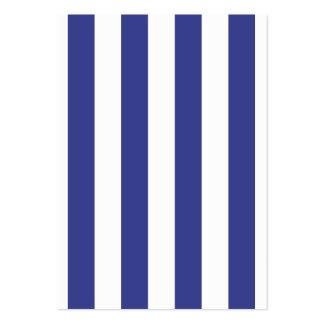 Rayas azules y blancas tarjetas de visita grandes