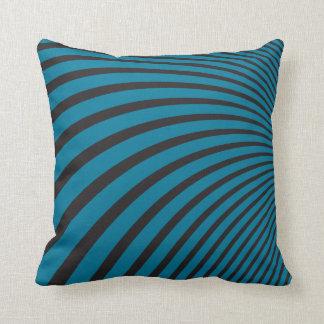 Rayas azules y negras de la curva cojin