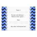 Rayas azules y negras del zigzag invitación personalizada