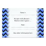 Rayas azules y negras del zigzag invitación 8,9 x 12,7 cm