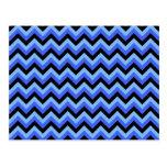Rayas azules y negras del zigzag postal