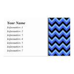 Rayas azules y negras del zigzag tarjetas de negocios