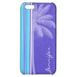 Rayas azules y púrpuras tropicales; Rayado