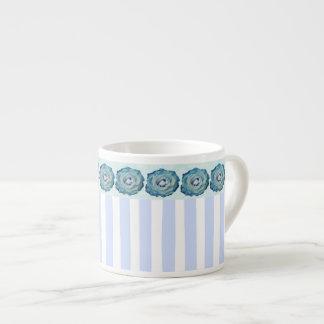 Rayas azules y rosas taza espresso