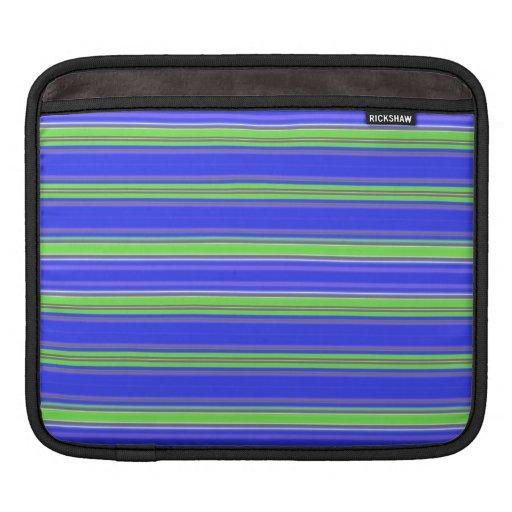 Rayas azulverdes manga de iPad