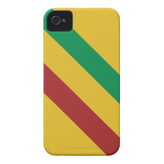 Rayas básicas de Rasta iPhone 4 Case-Mate Fundas