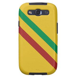 Rayas básicas de Rasta Galaxy S3 Fundas