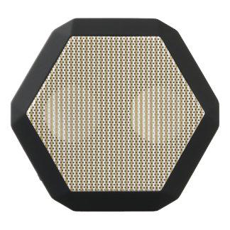 Rayas beige y blancas de color caqui de la cabaña altavoces bluetooth negros boombot REX