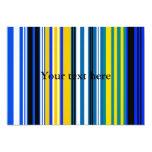 Rayas blancas amarillas azules marinas invitación 12,7 x 17,8 cm