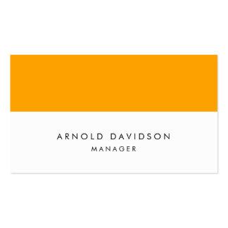 Rayas blancas anaranjadas llanas elegantes tarjetas de visita