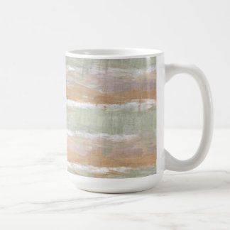 Rayas blancas anaranjadas violetas de la acuarela taza de café