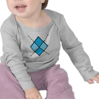 Rayas blancas azules Blue-003 Camisetas