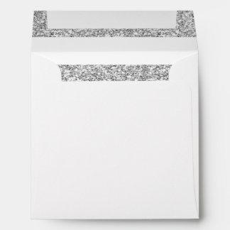 Rayas blancas del encanto con el brillo de plata sobres